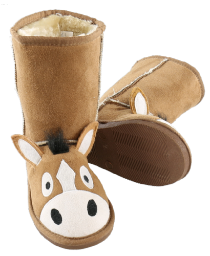 Kids Horse Toasty Toez Slipper Boots - Lazy One®